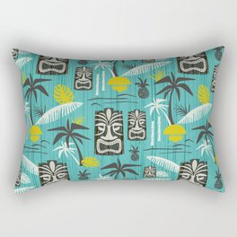 Island Tiki Aqua Rectangular Pillow