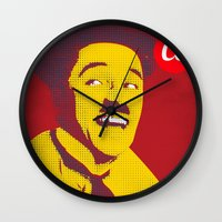 charlie chaplin Wall Clocks featuring Charlie Chaplin by jnk2007