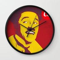 chaplin Wall Clocks featuring Charlie Chaplin by jnk2007
