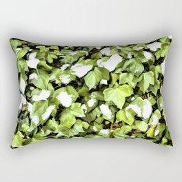 Snow Patterns a Wall of Climbing Ivy Rectangular Pillow