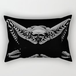 8767-KMA BW Erotic Spread Abstract Nude Sexy Striped Intimate View Reflected Rectangular Pillow