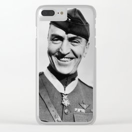 Eddie Rickenbacker Wearing The Medal Of Honor Clear iPhone Case