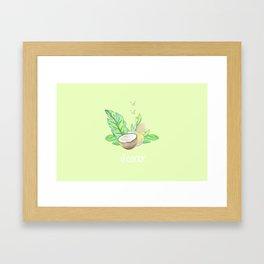 el coco: green Framed Art Print