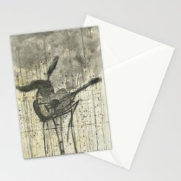 "GUITAR. A SERIES OF WORKS ""MUSIC OF THE RAIN"" Stationery Cards"