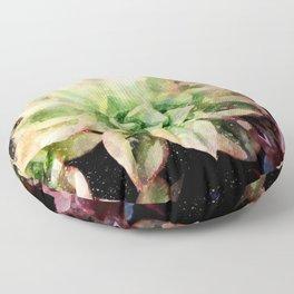 Colorful Succulent Watercolor Floor Pillow