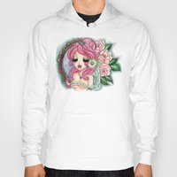 shabby chic Hoodies featuring Shabby Chic Girl by Sollamy