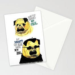 The True feelings of a Pug ~ Stationery Cards
