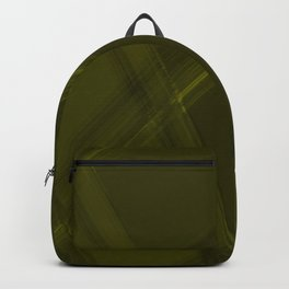 Metallic strokes with chaotic canary lines from intersecting glowing neon stripes. Backpack