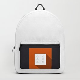 """Print Dice """"six"""" with long shadow in new modern flat design Backpack"""