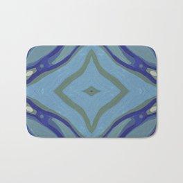 Blue Wave Nautical Medallion Bath Mat