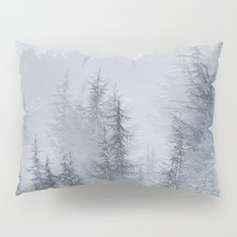 Early moorning... Into the foggy woods Pillow Sham