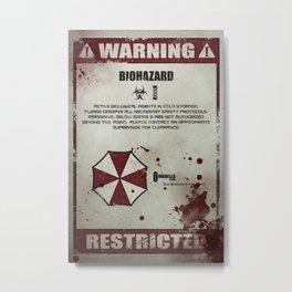 Biohazard Metal Print