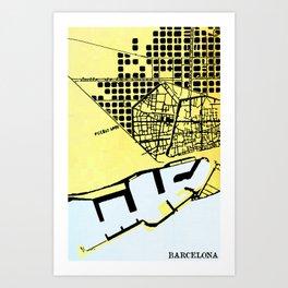 BARCELONA (MAPSTAT SERIES) Art Print
