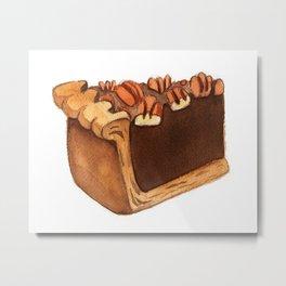 Pecan Pie Slice Metal Print