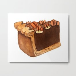 Pecan Pie Slice Metal Print