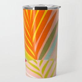 minimal leave tropical spring Travel Mug