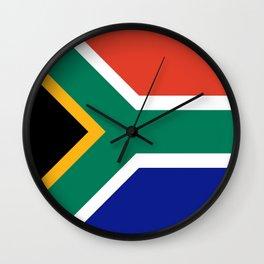 flag south africa, African,Afrikaans,Mandela,apartheid, Johannesburg,Soweto,Pretoria,Durban,Tembisa Wall Clock