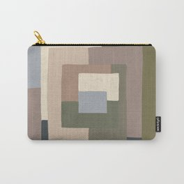 Abstract Neutrals Carry-All Pouch