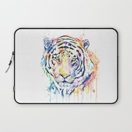 Tiger - Rainbow Tiger - Colorful Watercolor Painting Laptop Sleeve