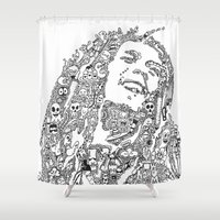 marley Shower Curtains featuring Marley by Ron Goswami