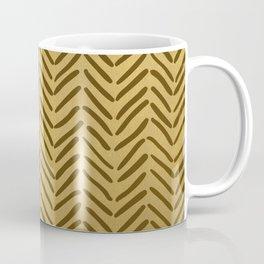GOLDEN HERRINGBONE I Coffee Mug