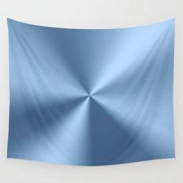 Blue metallic stainless steel pattern print Wall Tapestry