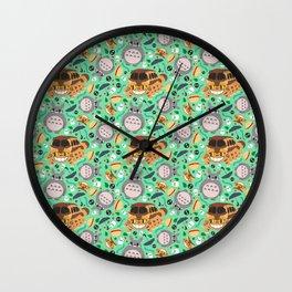 Ghibli pattern 01 (mint) Wall Clock
