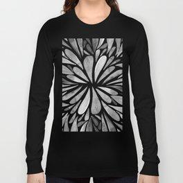 Symmetric drops - black and white Long Sleeve T-shirt