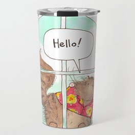 A window for Tommy Travel Mug