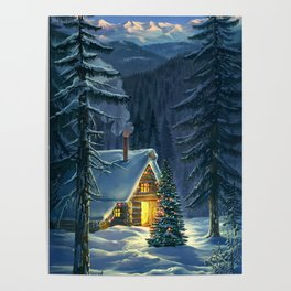 Christmas Snow Landscape Poster