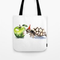 turtle Tote Bags featuring Turtle by Anna Shell