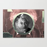 einstein Canvas Prints featuring Einstein  by Whorechata