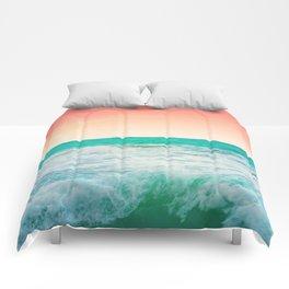 Aqua and Coral, 3 Comforters