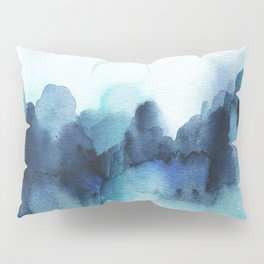 Wonderful blues Abstract watercolor Pillow Sham