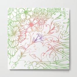 Floral Color Zenart Doodle Design 3 Metal Print