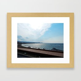 Coastal Shoreline and Boardwalk Framed Art Print