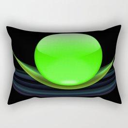 Green Ball Rectangular Pillow
