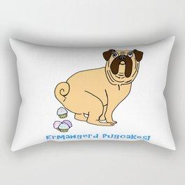 Ermahgerd Pugcakes! Rectangular Pillow