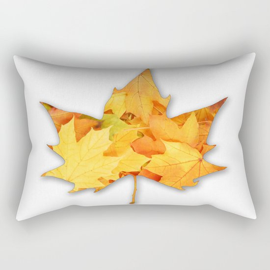 LEAVES IN LEAF Rectangular Pillow