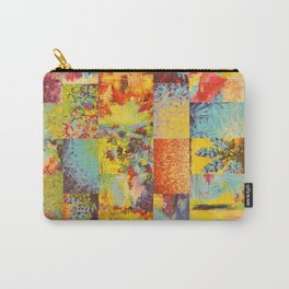 COLORFUL INDECISION 2 - Vibrant Wow Beautiful Abstract Acrylic Painting Collection Nature Rainbow Carry-All Pouch