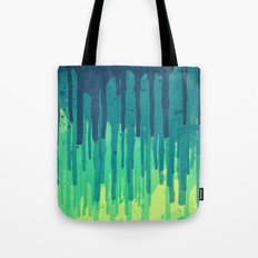 Green Grunge Color Splatter Graffiti Backstreet Wall Background Tote Bag