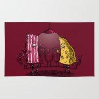 breakfast club Area & Throw Rugs featuring Breakfast Club by Salih Gonenli