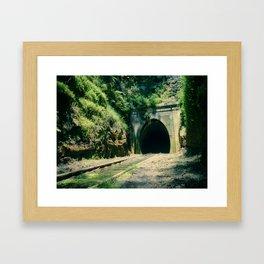 Train Tunnel Entrance Framed Art Print