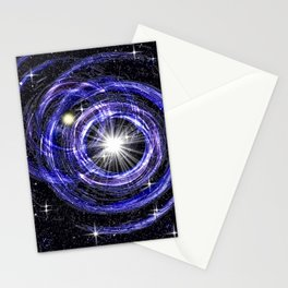 Gravitational lenses effect. Stationery Cards