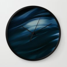 Storm in blue Wall Clock