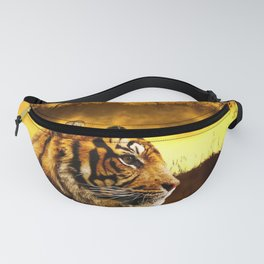 Tiger and Sunset Fanny Pack