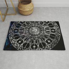 Rosette Window - Black Rug