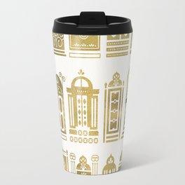 Moroccan Doors – Gold Palette Travel Mug