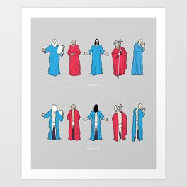 Historical Snuggie-Wearers Art Print