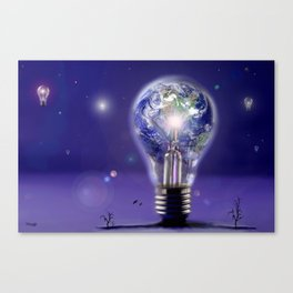 The sun is a light bulb Canvas Print